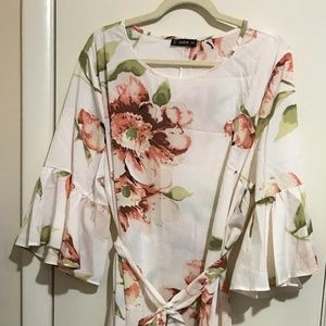 NWOT Shein Flounce Sleeve Dress